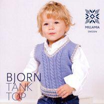 Boys' Bjorn Tank Top in MillaMia Merino Wool