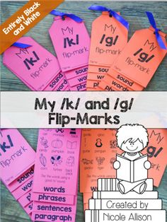 Perfect as reminders to practice those /k/ and /g/ sounds! You can print these functional bookmarks any time of the year for your students with articulation goals. Its an easy reminder for them to practice while they are at home or in study hall. And it doubles as a bookmark!