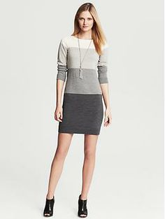 Colorblock Sweater Dress - reminds me of a long blue tank dress I had in college