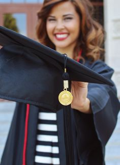 College graduation picture & makeup. Photo by: Kaitlin D. White Location: Valdosta State University #VStateGrad