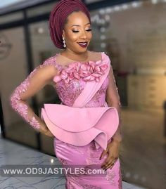 Ladies!!! Checkout These 30 Most Stylish and Classic  Aso Ebi Styles We Admired During The Weekend - Aso Ebi Styles - african weddings Nigerian Lace Dress, Nigerian Lace Styles, Aso Ebi Lace Styles, African Lace Styles, Lace Dress Styles, African Lace Dresses, African Fashion Dresses, Ankara Fashion, African Clothes