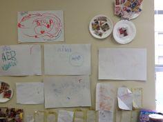 Display of purposeful writing in Grocery Store-Susan Helfeld