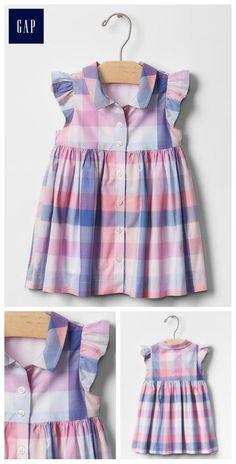19 Ideas for sewing baby shirt toddler dress Girls Frock Design, Baby Dress Design, Baby Girl Dress Patterns, Frocks For Girls, Little Girl Dresses, Girls Dresses, Toddler Dress, Toddler Outfits, Kids Outfits
