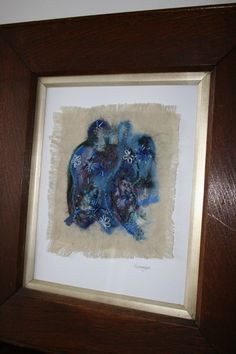 Blue Bells  Hand Felted Picture by fionadouglas on Etsy, $40.00