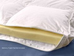 Add an additional layer of luxury to your bed with this down-alternative memory foam mattress topper cover. The cotton cover, filled with hypoallergenic polyester clusters, has a gusseted zipper panel that accommodates pads up to three inches thick.