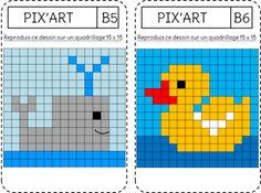pixel art a colorier
