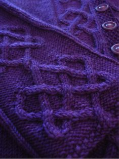 Heart on your sleeve sweater - part of my blog post on Celtic Knot cables