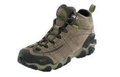 Oboz Yellowstone hiking boots.  Waterproof to the max, comfortable, and they have great support.