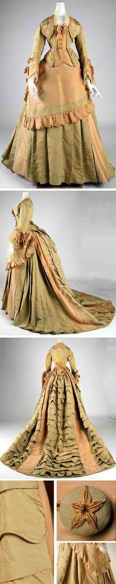 Dress, Mon. Vignon, France, ca. 1872. Silk. Metropolitan Museum of Art