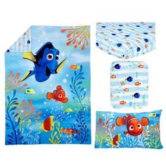 Beach Crib Bedding Sets and Nautical Crib Bedding Sets! When you are searching for nautical crib quilts, beach nursery decor, and coastal crib bedding, you will find it here. Nautical Crib Bedding, Nursery Bedding Sets, Nursery Decor, Disney Finding Dory, Disney Pixar, Duvet, Comforter Set, Urban Outfitters, West Elm Bedding