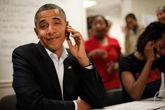 Hallo? Mr President Barack Obama, Orlando, Florida - November 2, 2012 (Ap)