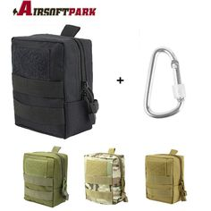 Tactical EDC Belt Pouch Military First Aid Bag Multifunctional Waist Molle Pouch Phone Card Keys Organizer Bag.