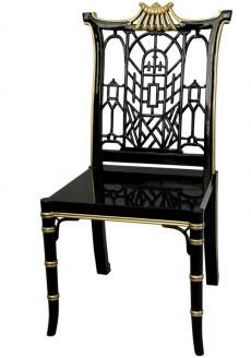 """Black Lacquer Pagoda Chair"" (BB)"