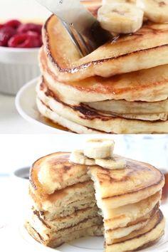 Best Vegan Pancakes, Vegan Pancake Recipes, Dairy Free Pancakes, Mexican Food Recipes, Fluffy Vegan Pancakes Recipe, Dairy Free Egg Free Pancakes, Gf Pancake Recipe, Almond Milk Pancakes, Oat Pancakes