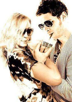 Candice Accola and Joseph Morgan - Caroline and Klaus