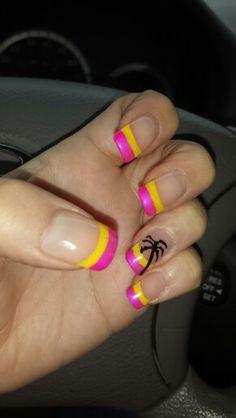 Palm Tree Summer Nails