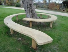 will help you make a tree bench in your garden and get to use the free space around the trees. So, check out our Garden Tree Benches That Will Impress You. Tree Seat, Tree Bench, Garden Seating, Outdoor Seating, Outdoor Decor, Outdoor Play, Garden Benches, Outdoor Trees, Outdoor Spaces