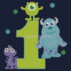 Baby Monsters Inc. 1st Birthday Boy Green 1 by sweetsisters