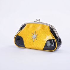 Starlite Powder Clutch Black Gold