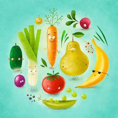 Happy food by Maciej Szymanowicz, via Behance