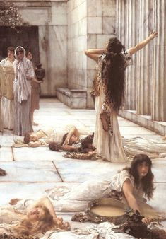 Las mujeres de Anfisa (detalle). Lienzo de Alma Tadema (1836-1912)                                                                                                                                                     More