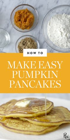 Pumpkin Pancakes Are the Ultimate Fall Breakfast (and They're Super Easy to Make) via @PureWow