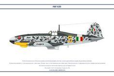 """Fiat G55 """"Centauro"""" - 2a Squadriglia  Caccia Areonautica Italiana Coobelligerante """"Giallo 6"""" - Fiat G.55 """"Centauro"""" - Aereo da caccia diurno, monoposto, monomotore, da intercettazione e superiorità aerea. Lunghezza: 9,37 m Apertura alare 11,85 m Altezza3,13 m Superficie alare21,11m² Peso a vuoto2 630 kg Peso max al decollo3 720 kg Propulsione Motore: Fiat 1050 RC.58 Tifone 12 cilindri a V raffreddato a liquido Potenza1 475 CV Prestazioni Velocità max620 km/h a 7 400"""