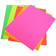 """Pacon 11"""" x 14"""" Neon Poster Board Pack 