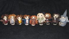 The Fellowship of the Ring, amigurumi style! EDIT: PATTERN LINK! - CROCHET