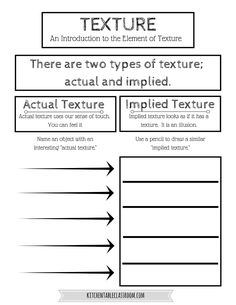 image result for texture worksheet for kindergarten art lesson planning pinterest. Black Bedroom Furniture Sets. Home Design Ideas