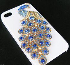 DIY phone decor #peacock inspirations!