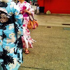 Japanese summer fashion. The yukata.