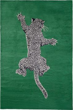 """Animal inspiration is classic DVF and this Climbing Leopard print is no exception. In a lush emerald with leopard shapes that add depth and dimension, this statement piece is perfect for a dramatic entryway."" Diane Von Furstenberg Climbing Leopard is Leopard Rug, Leopard Carpet, Rug Company, Illustration, Design Blog, Design Trends, Art Graphique, Contemporary Rugs, Modern Rugs"