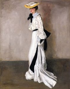 """""""The Woman in White"""" (c. 1900) by Alfred Henry Maurer (1868-1932)."""