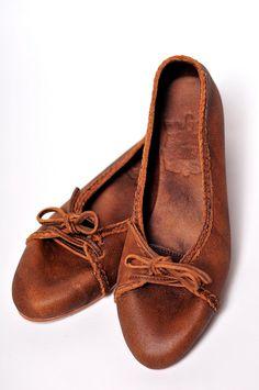 SASHA. Leather ballet flats / leather loafers / lace up por BaliELF