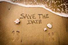 Tropical/beach Save The Date.