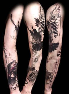Buena Vista Tattoo Club Tattoos - Realistic Trash Polka. #tattoo #tatuagem #ink