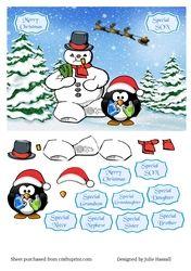 Christmas card on Craftsuprint - View Now!