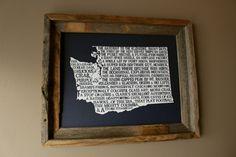 Washington In A Nutshell Word Art Map Print (Dark Blue) by fortheloveofmaps on Etsy https://www.etsy.com/listing/183149174/washington-in-a-nutshell-word-art-map