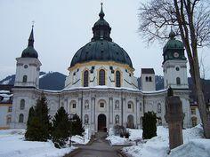 A view of the front of the Kloster Ettal near Garmisch-Partenkirchen, GERMANY