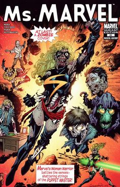 Ms. Marvel #20 (Zombie Variant Cover), Aaron Lopresti.