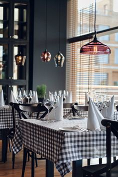 vía Hotel Mera - the walls look more like a dark gray or off-black - I really like the color palette-- if I had a restaurant...