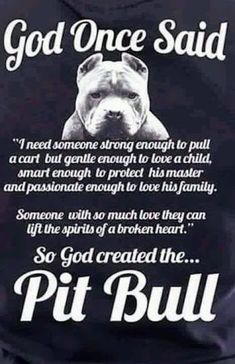 Pitbulls are the most misunderstood breed there is. If they are raised right, then they can be the best dogs. I've had pitbulls all of my adult life and I am here to educate the ignorant and hopefully give these beautiful babies the voice they deserve. Big Dogs, I Love Dogs, Pitbulls, American Pitbull, American Bulldogs, Dog Shaming, Dog Facts, Pit Bull Love, Dog Quotes