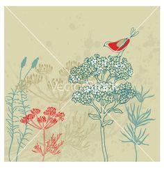 Bird garden vector - by Lavandaart on VectorStock®