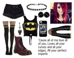 """""""Bloop :3"""" by unicorn1233 ❤ liked on Polyvore featuring Levi's and Dr. Martens"""