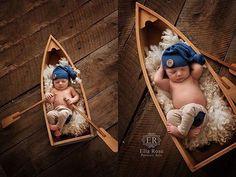 Newborn photography, newborn boy, newborn prop boat #ellaroseportraitarts
