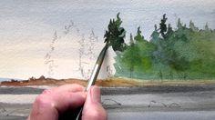 How to paint a calm seascape
