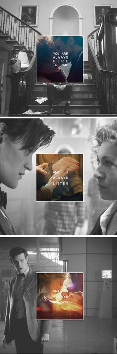 """How are you even doing that? I'm not really here..."" River Song and The Doctor."