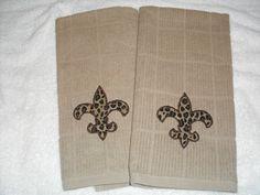 Fleur De Lis Kitchen Towels by Faithsfinery on Etsy, $15.00