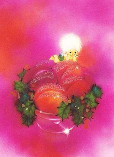 1960s Vintage Christmas Card Sugar Plum